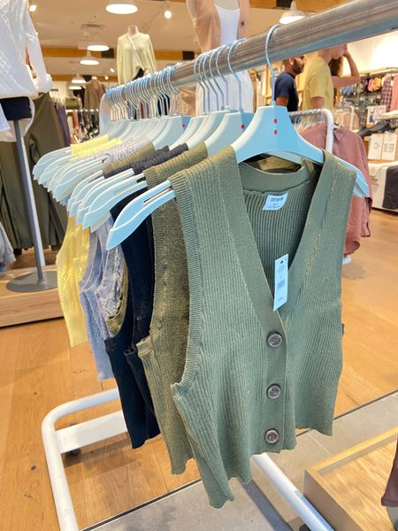 Cropped button up sweater vest, fall style, fall fashion trends, fall tops, fall trends 2021   #LTKstyletip #LTKunder50 #LTKSeasonal
