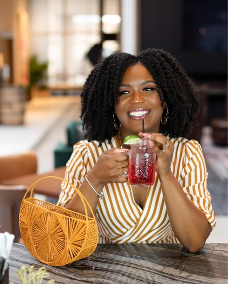 Sip on some of your fave cocktails in style .  Outfit deets and green hat I used in my hair is all linked   #LTKstyletip #LTKitbag #LTKfit
