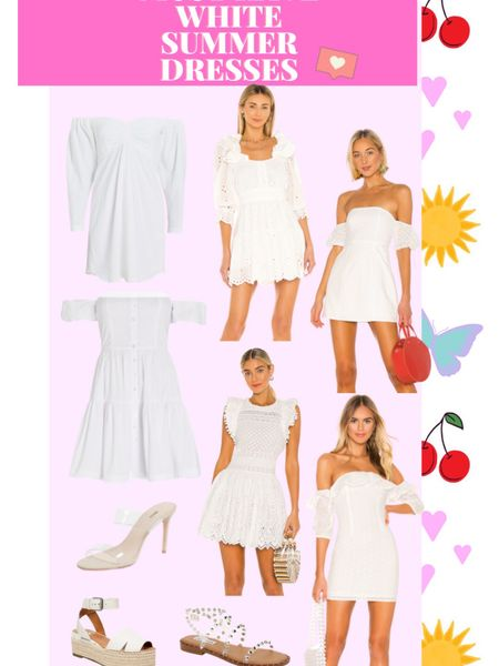 http://liketk.it/3jNTR #liketkit @liketoknow.it Perfect White Summer Dresses!