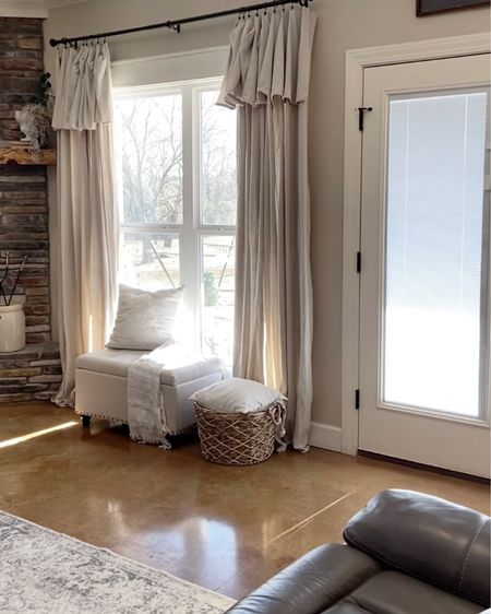 Drop cloth curtains are an easy and affordable way to give your room a new look! http://liketk.it/37qe4 #liketkit @liketoknow.it #LTKhome #LTKstyletip @liketoknow.it.home