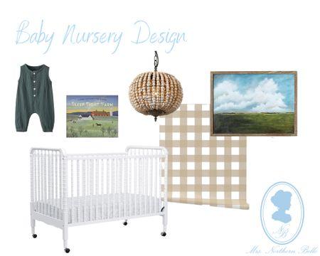 Cozy, simple neutrals for this more modern farm nursery 🤍🤎   #LTKfamily #LTKhome #LTKbaby