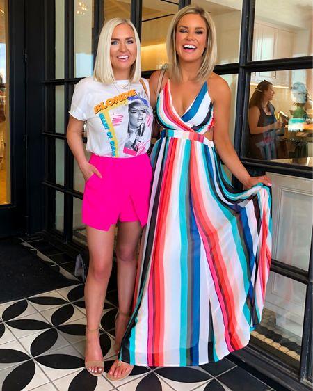 Blondie graphic tee and hot pink skort! Wearing SM in both!! http://liketk.it/2B8my @liketoknow.it #liketkit #LTKspring #LTKtravel #LTKstyletip