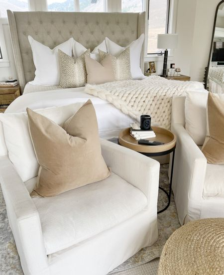 H O M E \ Adding some new velvet beauties to my bedroom setup!! Gimme all the pillows🤗  #bedroom #pillows #bed #bedding #bedroomdecor  #LTKhome #LTKunder50