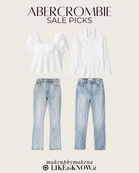 http://liketk.it/3gr7Y #liketkit @liketoknow.it #LTKsalealert #LTKfit  save at least 25% on select Abercrombie styles for Memorial Day weekend, including these jeans and white tops for summer
