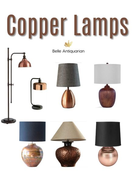 After years of home decor lacking color, and everything being white or beige, things are warming up with richer colors, darker woods, and warmer metals. Check out these copper lamps, which are an easy swap to bring your home and office spaces up-to-date.  #LTKfamily #LTKhome #LTKstyletip