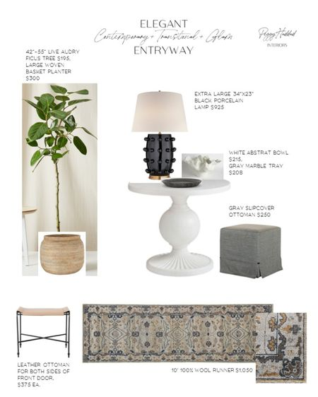 Contemporary + Glam + Transitional Entryway by Peggy Haddad Interiors http://liketk.it/2Xl8F #liketkit @liketoknow.it #StayHomeWithLTK @liketoknow.it.home home decor entryway table decor and styling traditional rug runner Audrey ficus live tree