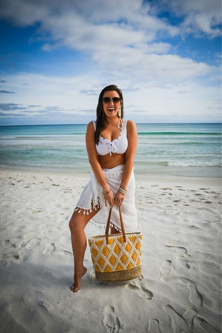 Beach essentials for summer including my cover up, sunglasses, sunglasses chain, and flip flops 🌴☀️👙 @liketoknow.it http://liketk.it/3fIHw #liketkit #LTKtravel #LTKswim #LTKunder50