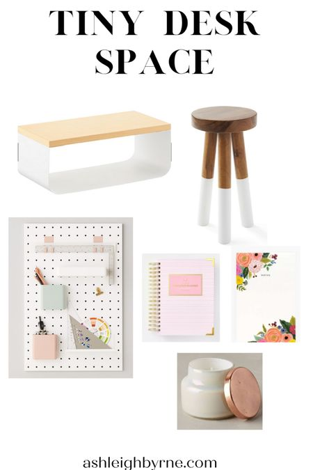 All the necessities for a tiny desk space: Floating shelf Peg board for all the inspiration  Planner Colorful notepad Gorgeous dip dyed stool Candle for relaxing   http://liketk.it/2WASf #liketkit @liketoknow.it Shop your screenshot of this pic with the LIKEtoKNOW.it shopping app