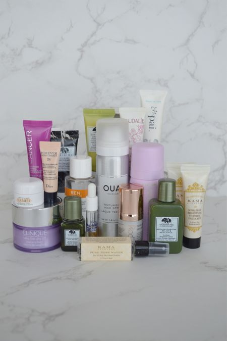 Minis are a great way of testing expensive products if you're unsure – most beauty brands will do travel sizes of their bestsellers and are mostly priced at under £25. My favourites are the OUAI texture spray, the Clinique Cleansing Balm and the REN AHA Tonic ✨  #LTKbeauty #LTKeurope #LTKunder50