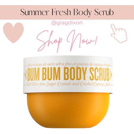 Summer fresh scrubs for your Body ody ody ody ody ody ody  If we could list the endless visualizations that come to mind when it comes to a fabulous summer body it would simply come down to being: 1.Hydrated 2.Silky smooth 3.Glowing - maybe even tan 4.Relaxed from summer vacation   #LTKSeasonal #LTKunder50 #LTKbeauty