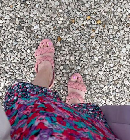 Wedding guest attire calls for pink sandals!   #LTKSeasonal #LTKcurves #LTKwedding