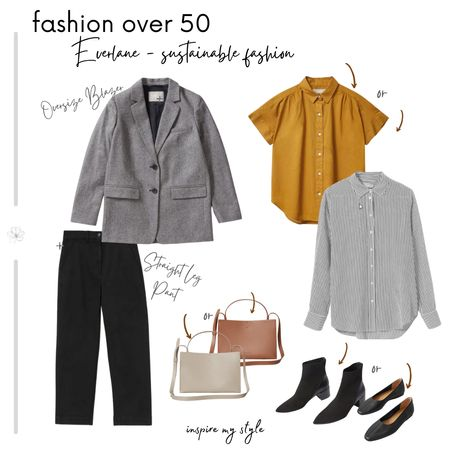 Fashion over 50 from Everlane, with a casual blazer and black pants as the foundationto dress up or down. Sustainable fashion! #fashionover50 #everlane #blackpant #casual #sustainablefashion #LTKstyletip @liketoknow.it Download the LIKEtoKNOW.it app to shop this pic via screenshot http://liketk.it/2Y6vR #liketkit