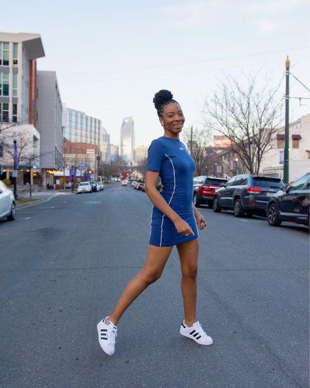 loving casual street wear! It's so easy. I have this dress and 2 puma dresses... and okay, another Adidas shirt dress.   http://liketk.it/3faLx #liketkit @liketoknow.it #LTKunder50 #LTKstyletip #LTKsalealert