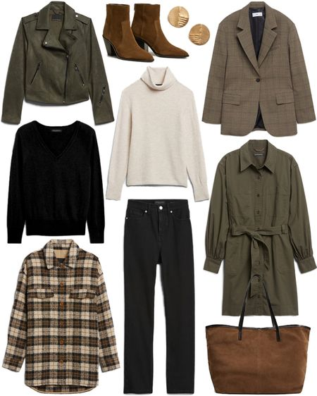Nothing but basics👌🏼 Rounding up some of our favorite wardrobe essentials for fall! This plaid shacket is on my wishlist 🖤   #tssedited #thestylescribe #fall #neutrals #basics #blazer #bananarepublic #mango #jacket #sweaters #budgetfriendly  #LTKSeasonal #LTKstyletip