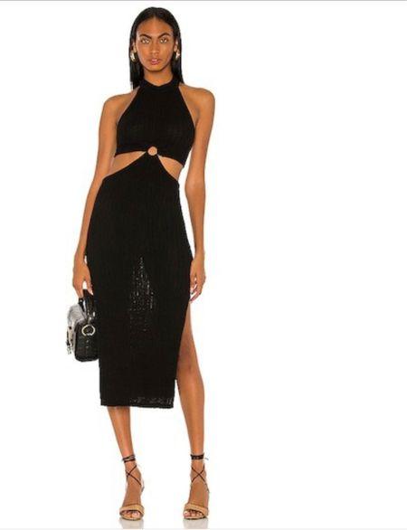 Wearing a S. #cutoutdress #datenight   #LTKunder100 #LTKstyletip
