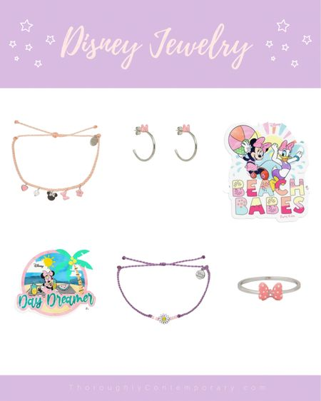 Absolutely obsessed with this new Disney jewelry. It's a great way to add a subtle Disney touch to any outfit or to pair with a Disney Park day outfit! I only bought a bracelet (so far!) but I love this entire jewelry collection!  Disney   Disney style   Disney outfit   vacation   vacation outfit   Disney vacation   #LTKunder50 #LTKSeasonal #LTKtravel