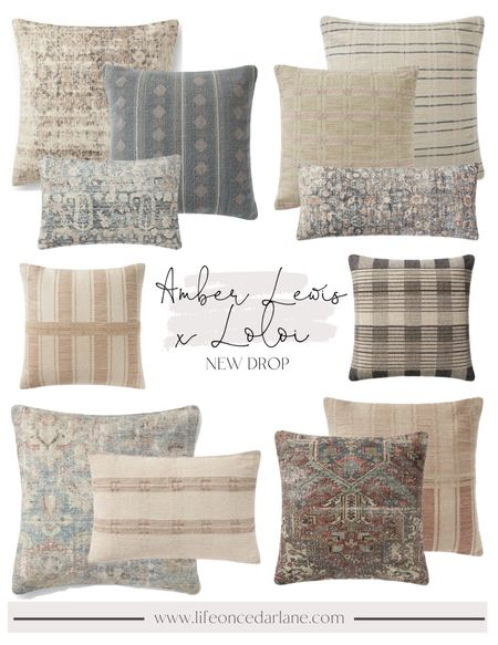 Amber Lewis x Loloi. So many gorgeous throw pillows in this new line! Cozy up your living room or bedroom with these picks!!  #fallpillows #throwpillows #livingroom  #LTKhome #LTKSeasonal