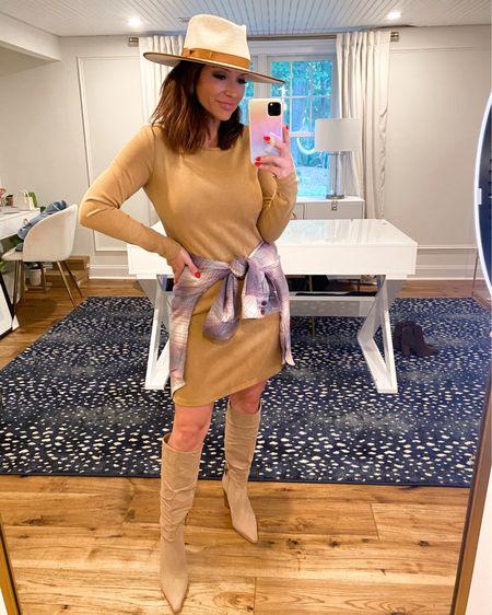 @liketoknow.it http://liketk.it/3jVeG #liketkit #LTKsalealert #LTKstyletip  Dress (M) Flannel (S) Nsale, fall outfit