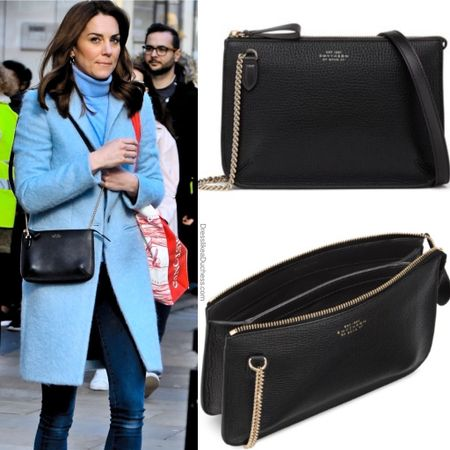 Kate carrying Smythson crossbody #bag #purse #itbag  #LTKeurope