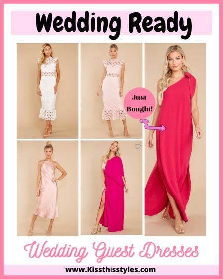 Wedding guest dresses!! Maxi dresses Off the shoulder dresses Wedding earrings Wedding heels Wedding bag   #LTKwedding #LTKshoecrush #LTKitbag