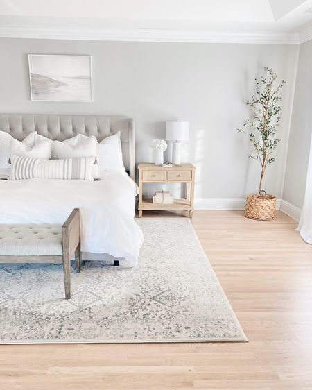 PRIME DAY finds!  This rug is only $84 in this size 9'x12' under a king bed.  The faux olive tree is on sale. I'm going to be sharing some prime day sale round ups today if you are interested and don't feel like sorting through the thousands of sale pages. @liketoknow.it #liketkit http://liketk.it/3i3Jv #LTKhome #LTKsalealert #LTKstyletip