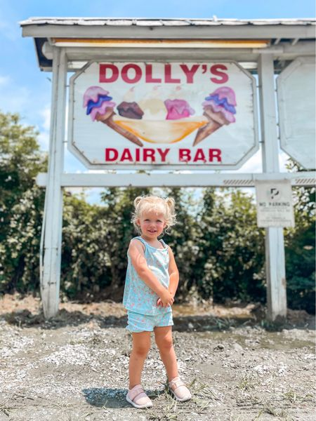 Guess what? Melted ice cream is STILL ice cream. Don't let little imperfections ruin the sweetest blessings in your life.🍦  p.s. my new life mission is to find every place with Dolly's name on it & tell her it was made just for her. ✨👑 if you know a place, let me know!!    #LTKbaby #LTKtravel #LTKkids