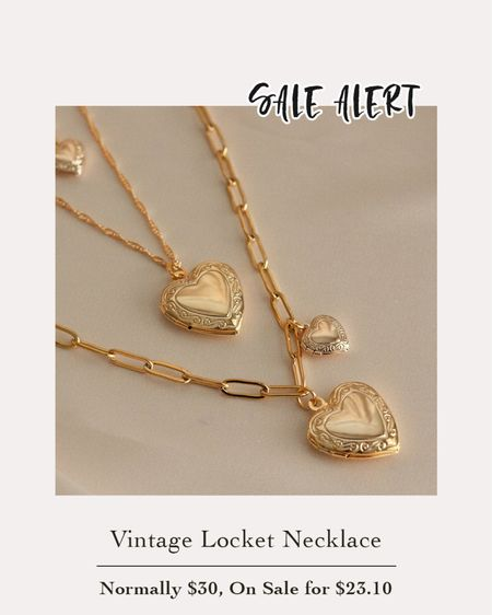 This gorgeous gold heart locket is on sale right now for 25% off! Perfect over tees or with dresses.    #LTKwedding #LTKsalealert