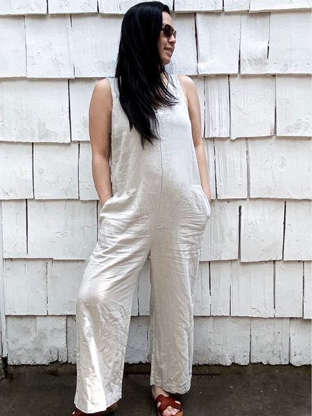 The perfect summer cotton linen romper!   Follow me on the LIKEtoKNOW.it shopping app to get the product details for this look and others  http://liketk.it/3drdK #liketkit @liketoknow.it @liketoknow.it.family #LTKsalealert #LTKstyletip #LTKunder50