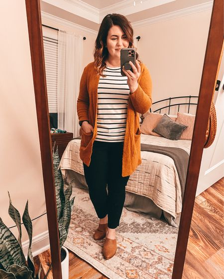 Happy Friday Eve!  I'm wearing my favorite Madewell cardigan.  Their Kent Cardigans are so pretty and they come out with new colors every year.  #LTKSeasonal #LTKfit