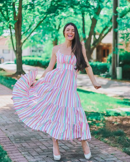I just love spring and summer dresses!! My favorite retailer is having a sale on some of these sweet frocks including this candy striped cutie! The tassels are so sweet and the colors are so pretty!! 🍭  If you're looking to build up a sustainable wardrobe of high quality clothes, this is a great place to check out!! http://liketk.it/3bxys @liketoknow.it @liketoknow.it.europe #liketkit #LTKunder100 #LTKstyletip #LTKSpringSale