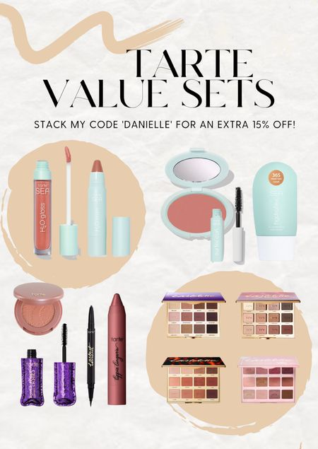 Tarte value sets! Use my code DANIELLE for an extra 15% off.