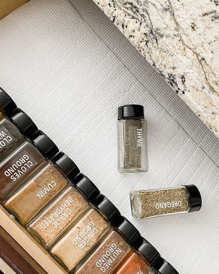 Feeling extra organized in these matching spice bottles! Comes with a lot of already pre-made labels and blank stickers for you to make your own labels as needed!   Also comes with a little funnel for easy filling. http://liketk.it/3f1YJ #liketkit @liketoknow.it #LTKhome #LTKunder50