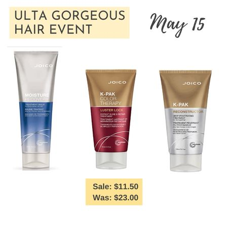 May 15 Ulta Gorgeous Hair Event picks - Joico hair masks and treatments are 50% off!  #gorgeoushairevent #ultasale #relaxedhair  http://liketk.it/3f9Hy #liketkit @liketoknow.it   #LTKbeauty