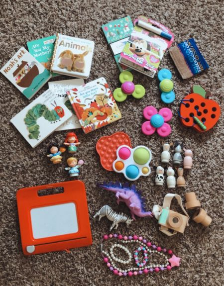 All of our go-to toys for church, doctor appointments or wherever you'll need to entertain your toddler for awhile, but still keep them quiet! 🤫 p.s. these are all small enough to fit inside a diaper bag 🙌🏻   #LTKkids #LTKbaby