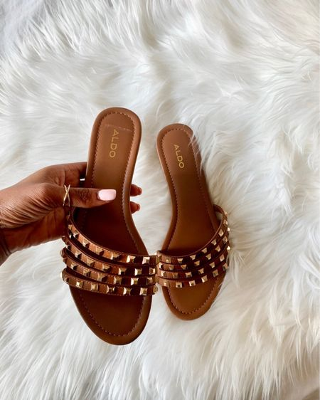 Simple GLAM!  These are the perfect sandal for Summer! They are so classy with a bit of edgy! These studded beauties are currently under $40 and they come in NAVY! Grab them while they are on sale! Thank me later!  • • •  Download the LIKEtoKNOW.it app to shop this pic via screenshot http://liketk.it/2C40V #liketkit @liketoknow.it #LTKunder100 #LTKunder50 #LTKtravel #LTKspring #LTKshoecrush #LTKsalealert #LTKstyletip #LTKeurope