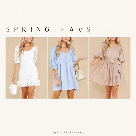 I'm so excited to share some of these spring fashion favorites from Red Dress!  ✨✨✨✨✨  Spring dress, spring dresses, white dress, blue dress, taupe dress, neutral dress  #LTKwedding #LTKSeasonal #LTKunder100