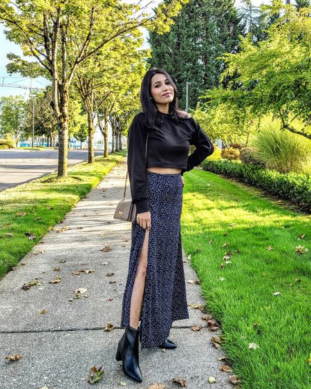 Slit maxi skirt http://liketk.it/3oHFR @liketoknow.it #liketkit #LTKGiftGuide #LTKSeasonal #LTKstyletip #LTKshoecrush #LTKunder50 #LTKunder100 #ltkfall #maxiskirt #sideslitskirt #blackboots #anklebooties