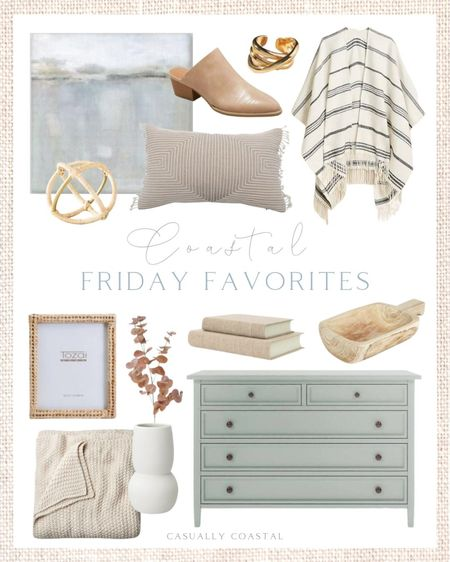 This week's Friday Favorites! Loving these warm, neutral pieces for any bedroom in your home! Take 30% off the poncho with code SALEONSALE! - home decor, decor under 50, home decor under $50, fall decor, fall decorations, fall home decorations, coastal decor, beach house decor, beach decor, beach style, coastal home, coastal home decor, coastal decorating, coastal interiors, coastal house decor, home accessories decor, coastal accessories, beach style, blue and white home, blue and white decor, neutral home decor, neutral home, natural home decor, fall stems, tall white vase, white ceramic vase, Target home, Target finds, Target decor, Target home decor, rattan picture frame, megan molten, woven frame, fall sweaters, fall ponchos, J.Crew fall, J.Crew fall sweaters, chunky knit throw, neutral throw blanket, bed blanket, target bedding, knit throw blanket, decorative books, linen books, rattan decorative objects, decorative orb, gold ring, sculptural ring, anthropologie, gold accessories, Paulownia wood tray, Paulownia wood bowl, dresser decor, nightstand decor, side table decor, crate & Barrel, dresser, gray dressers, blue dressers, 5-drawer dresser, coastal bedroom, coastal bedroom decor, coastal bedroom furniture, coastal art, coastal artwork, coastal prints, coastal art prints, prints decor, prints on a wall, walmart art, abstract art, abstract wall art, abstract art print, large art prints, large artwork, small art, wall art large, affordable artwork, blue artwork, large canvas art, neutral canvas art, Target fashion, target mules, affordable mules, fall fashion, fall shoes, Lumbar pillow, textured decor, fall pillow covers, neutral fall pillows, pillow covers with fringe, fall stems, eucalyptus, neutral throw pillows  #LTKhome #LTKunder100 #LTKsalealert
