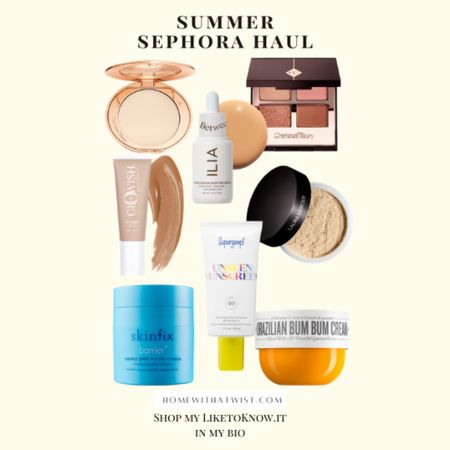 Sephora summer haul. It's important to have the right products on hand for those hot summer days and nights! http://liketk.it/3hYtL #liketkit @liketoknow.it #LTKbeauty #LTKunder100 #sephora #LTKtravel