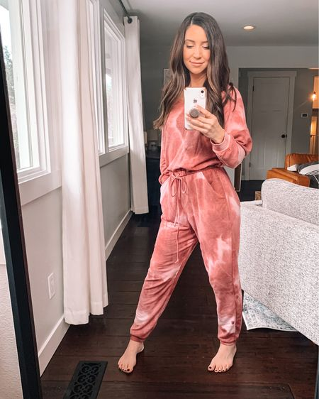 This is the cozies jumpsuit I've ever worn! Valentine's Day outfit. Cozy Valentine's Day onesie. Tie dye jumpsuit.   http://liketk.it/36myk #liketkit #LTKunder50 #LTKVDay #StayHomeWithLTK @liketoknow.it   Shop your screenshot of this pic with the LIKEtoKNOW.it shopping app