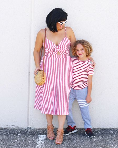 You guys know @sheinofficial has been a staple in my wardrobe for years… their prices just can't be topped, and you can always find the latest trends on their website. But did you know #SHEIN also carries trendy kid's clothes? On the blog today I've styled two mommy-and-me matching looks for summer (one with each of my sons). Not only are the prices and quality amazing, but I'm offering 15% off your entire order at SHEIN using my promo code: fabeveryday15. Check out the complete details on both looks on the blog (link in bio), or shop today's look on @liketoknow.it  here ( http://liketk.it/2Cdmr ), by following me on the #liketkit app, or searching these pieces on the SHEIN website (including the must-have bag of the moment!):
