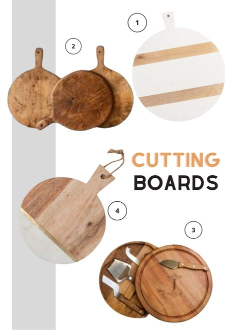 Looking for cutting chic cutting board or a cheese board for your next gathering? Here are some affordable options to spruce up your kitchen accessories.   #LTKhome #LTKunder100 #LTKunder50