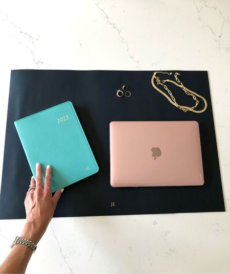 All set for more work-from-home with this luxe leather desk blotter. Also prepared ahead of the game for 2022 with this gorgeous planner. Both make the perfect holiday gift especially with personalization! Tagged 2 statement necklaces on trend and must haves this season… Wearing them on repeat! ❤️  #LTKhome #LTKunder100 #LTKGiftGuide