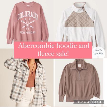 Abercrombie hoodie and fleece sale! #jackets #sherpa #abercrombie   #LTKsalealert #LTKunder100 #LTKunder50