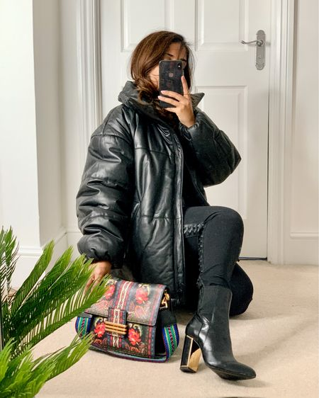If you haven't got a leather / faux leather puffa, do you even have your A/W wardrobe sorted?   #LTKeurope #LTKFall #LTKunder50
