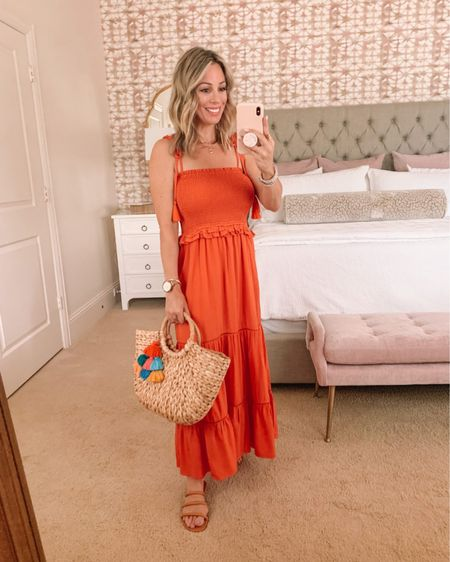 http://liketk.it/3d9G5 #liketkit @liketoknow.it #LTKstyletip #LTKshoecrush  Smocked Dress  Dress Fit: I'm wearing a 0