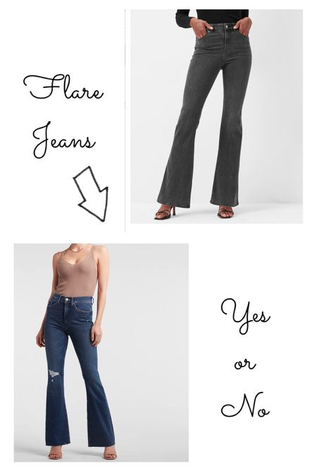 I knew they would come back around. My high school self is so happy right now. What do you think about Flare jeans making the comeback?? Are you here for it?   #LTKunder50 #LTKstyletip #LTKcurves