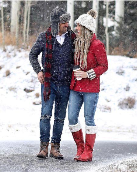His & hers winter outfits   Men's navy cardigan Men's brown boots  Red Burberry jacket Red hunter boots   #liketkit @liketoknow.it #LTKunder100 #LTKwedding #LTKshoecrush #LTKstyletip #LTKunder50 #LTKsalealert #LTKmens #LTKholidaywishlist #LTKholidaygiftguide #LTKholidayathome #LTKholidaystyle #LTKbeauty http://liketk.it/2yFEC