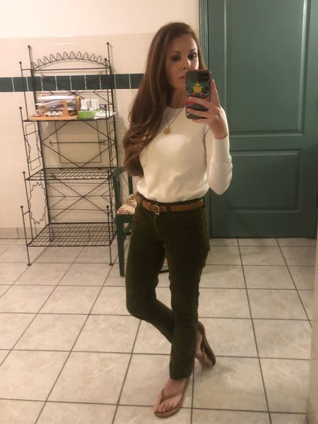Fall Outfit   I'm wearing a small in the sweater and a 12 in the pants.   #jcrew #amazonfinds #lightsweater #whitesweater #corduroypants #petite #petitefashion #petiteclothes #petitestyle    #LTKsalealert #LTKstyletip #LTKunder50