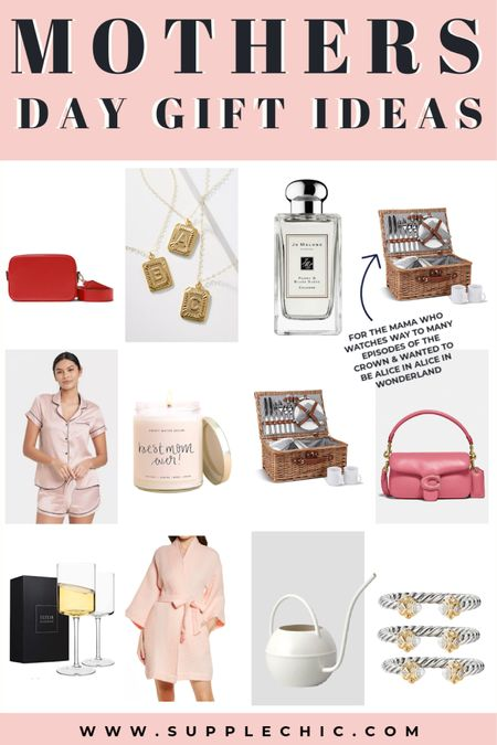 Last Minute Mother's Day gift ideas | Mama Necklace, Camera leather bag, tabby shoulder bag, Picnic basket, Patio /lawn white watering can , waffle robe perfect for self care night  #LTKcurves #LTKbeauty #LTKfamily